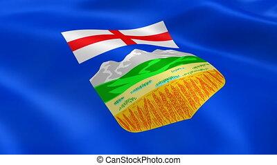 Albertan flag in the wind