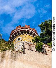 Alberti Castle in Genoa Italy HDR