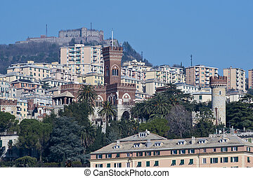 Albertis Castle in Genoa - The Albertis castle in gothic...