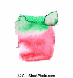 albo, elementy, tło, druk, abstrakcyjny, skład, akwarele, sieć, etykieta, watercolor farba, kolor, używany, paper., mokry, album na wycinki, brudzić, ręka, projektować, ilustracja