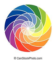 albo, kolor, koło, koło, kolor, dwanaście