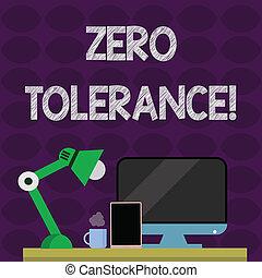 albo, odmowa, tolerance., komputer, fotografia, zero, lamp., rozmieszczenie, pokaz, konceptualny, tabliczka, znak, nightshift, uznawać, niewłaściwy, aspołeczny, pracownik, zachowanie, tekst, workspace