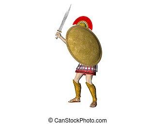 albo, spartan, warrion, grek, rzymski