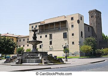 Albornoz Castle. Viterbo. Lazio. Italy.