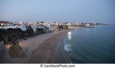 Albufeira beach in Algarve