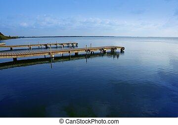 albufera, lago, wetlands, em, valença, espanha