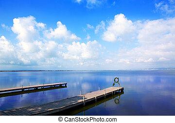 Albufera lake in Valencia El Saler