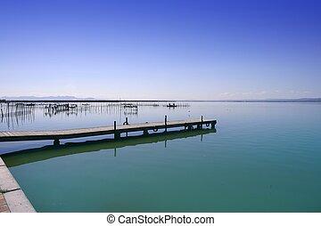 albufera, valença, lago, wetlands, mediterrâneo, espanha