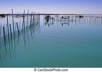 albufera, valença, lago, wetlands, mediterrâneo