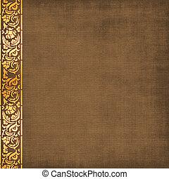 album, brun, couverture, photos