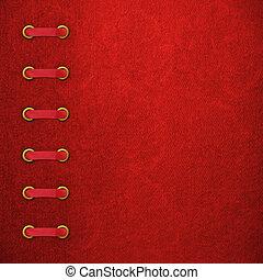 album, fénykép, fedő, piros