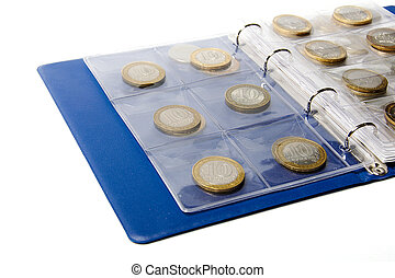 Album for coins collection