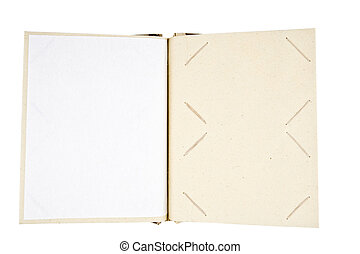 album, foto, bianco, aperto, isolato