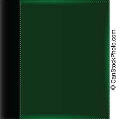 album, groene, dekking