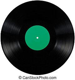album, lek, disc;, isolerat, länge, rekord, svart, vinyl, lp...