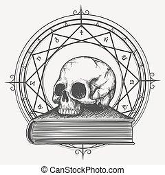 album per schizzi, magia, cranio
