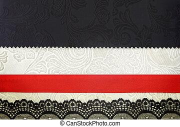 album, photobook, tissu, décoratif, arrière-plan., concept