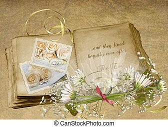 album, wedding