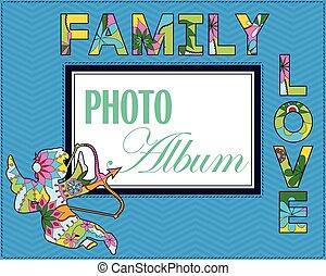 album, weddng, decke, familie