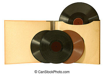 ALBUM WITH VINTAGE RECORDS