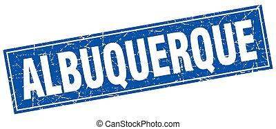 Albuquerque blue square grunge vintage isolated stamp