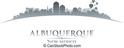 Albuquerque New Mexico city skyline silhouette. Vector illustration