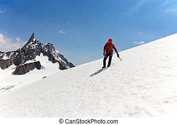 alcance, ápice, mountaineer, maneira, macho