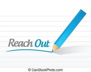 alcance, mensagem, ilustração, desenho