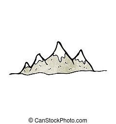 alcance montanha, caricatura