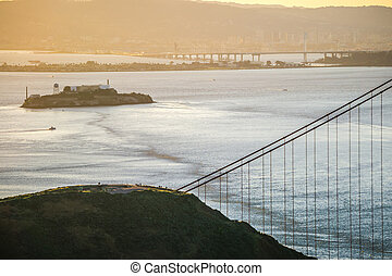 alcatraz, francisco, san, baía, famosos, histórico, cadeia, califórnia