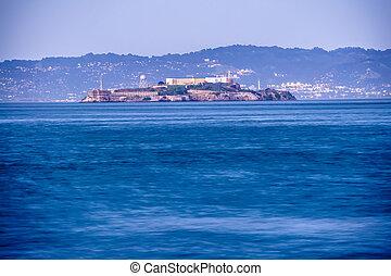 alcatraz, histórico, famosos, cadeia, em, baía são francisco, califórnia
