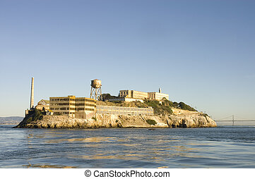 Alcatraz island in San Francisco Bay