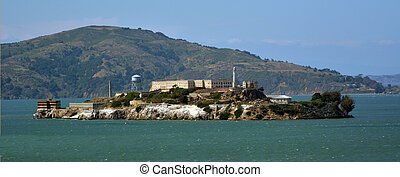 Alcatraz Island in San Francisco Bay - CA