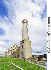 Alcatraz island Lighthouse, San Francisco, California