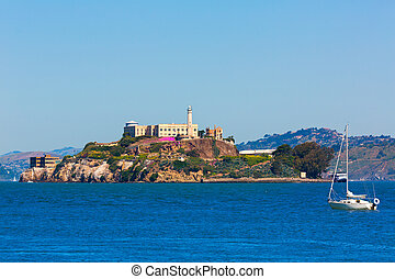 Alcatraz island penitentiary in San Francisco Bay California...