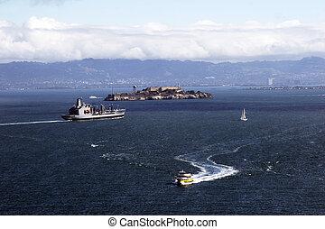 Alcatraz Island - The Rock - Richmond in background