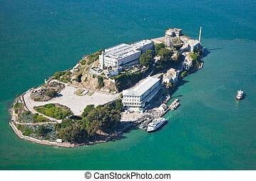 Alcatraz jail in San Francisco bay