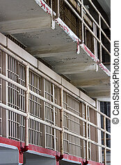 Alcatraz Jail - view of the famous alcatraz jail in San...