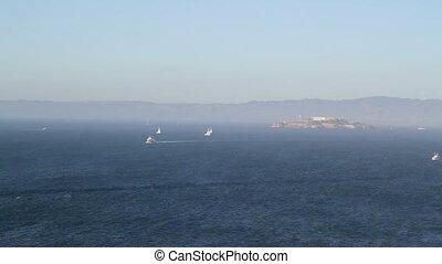 Alcatraz Prison sail boats Cali