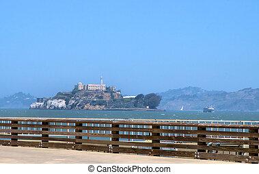 Alcatraz sight from the mainland in San Francisco