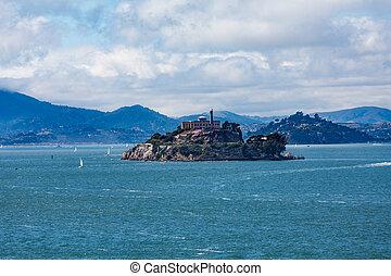 Alcatraz with Marin in Background
