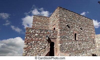 Alcazaba castle.Malaga, Spain - Alcazaba castle on...