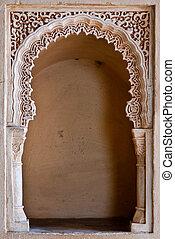 Alcazaba - Decorated gateway detail
