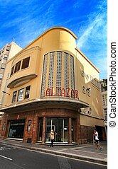 Alcazar cinema facade in Elche city