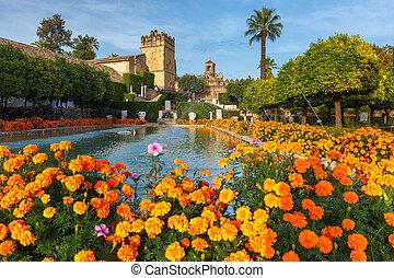 Alcazar de los Reyes Cristianos, Cordoba, Spain - Blooming...