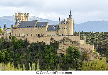 Alcazar of Segovia - The famous Alcazar of Segovia, Castilla...