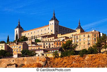 Alcazar of Toledo in sunny summer day