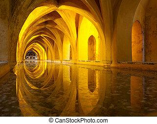Alcazar queen's bath, Seville, Andalusia, Spain