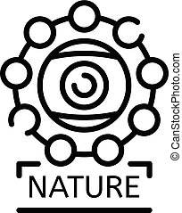 Alchemy nature icon, outline style