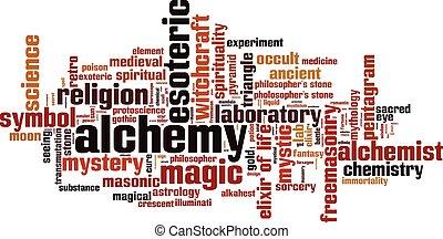 Alchemy word cloud concept. Vector illustration